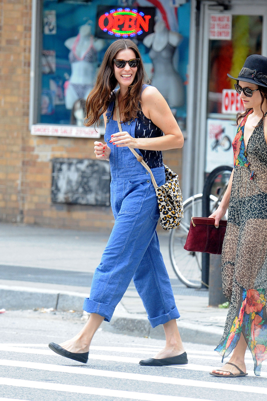 How Old Is Too For Dungarees Lifeaccordingtolea With Hood 10 Liv Tyler All Smiles As She Spends Her Labor Day Out And About In New