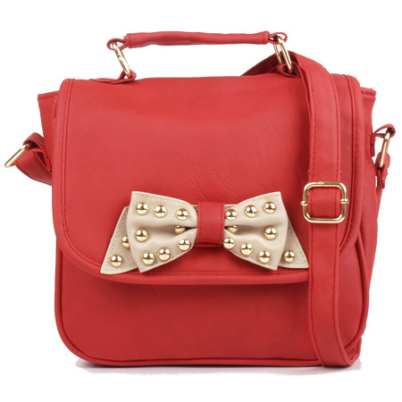 Red Studded Bow Bag £18