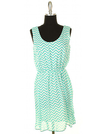 Peppermint Cream Chevron Dress £30